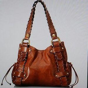 Kooba Sienna handbag with whipstitch on straps